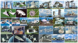 Imágenes del Proyecto Venus (viviendas, vehículos, ciudades).